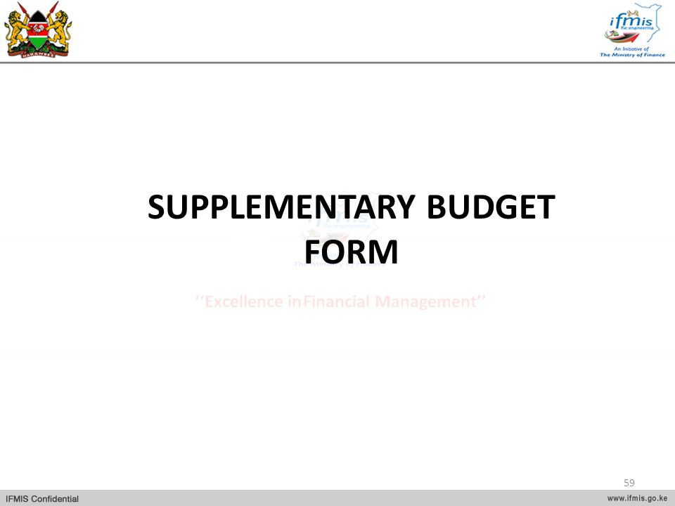 SUPPLEMENTARY BUDGET FORM