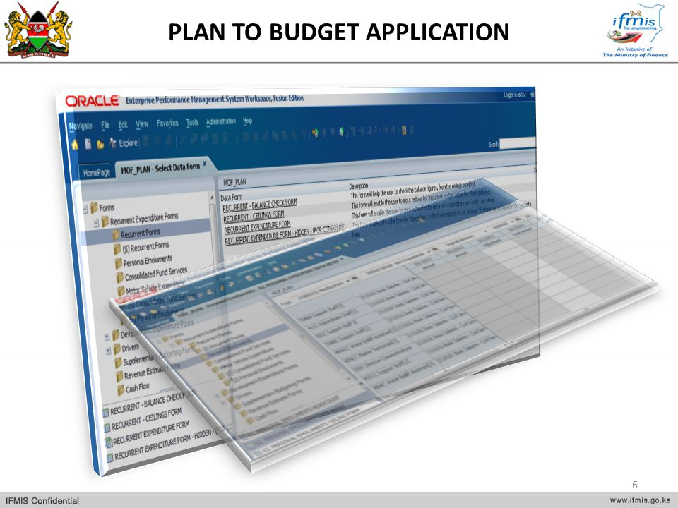 PLAN TO BUDGET APPLICATION