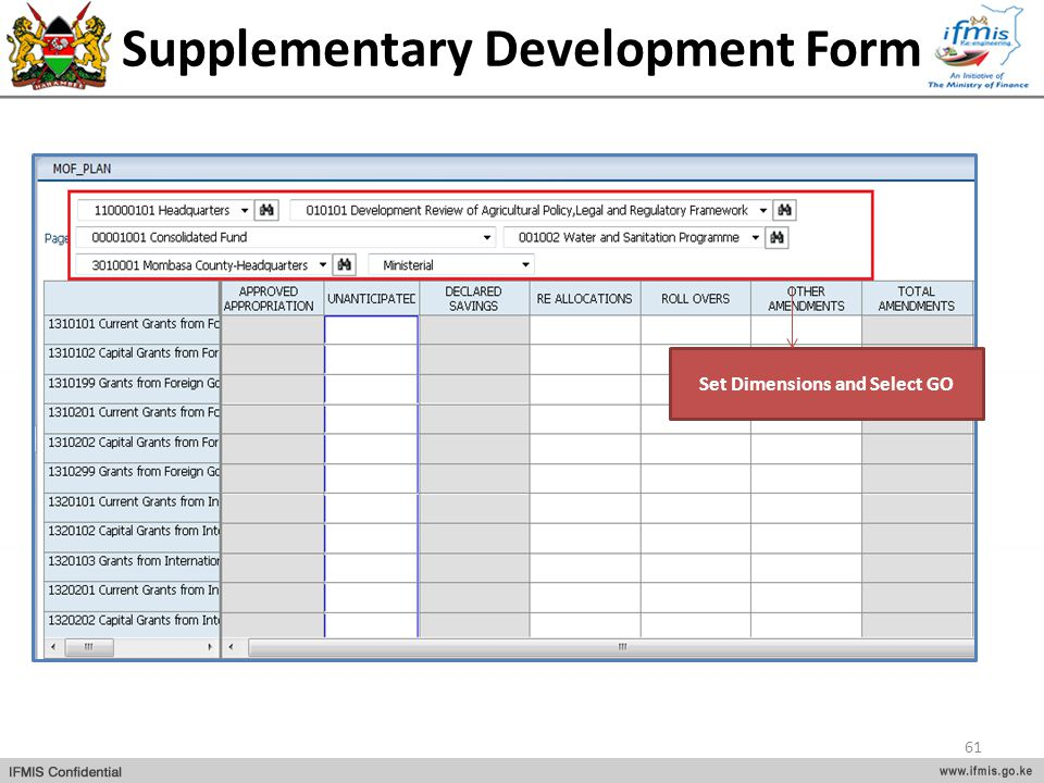 Supplementary Development Form