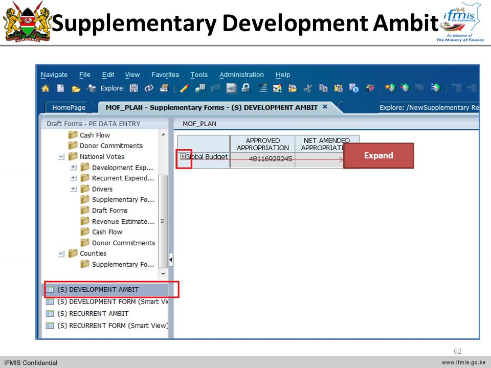 Supplementary Development Ambit