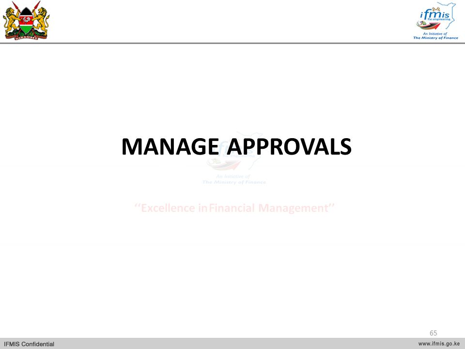 MANAGE APPROVALS