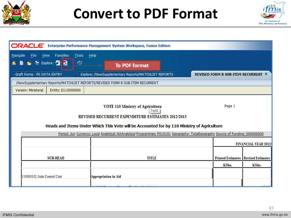 Convert to PDF Format To PDF format