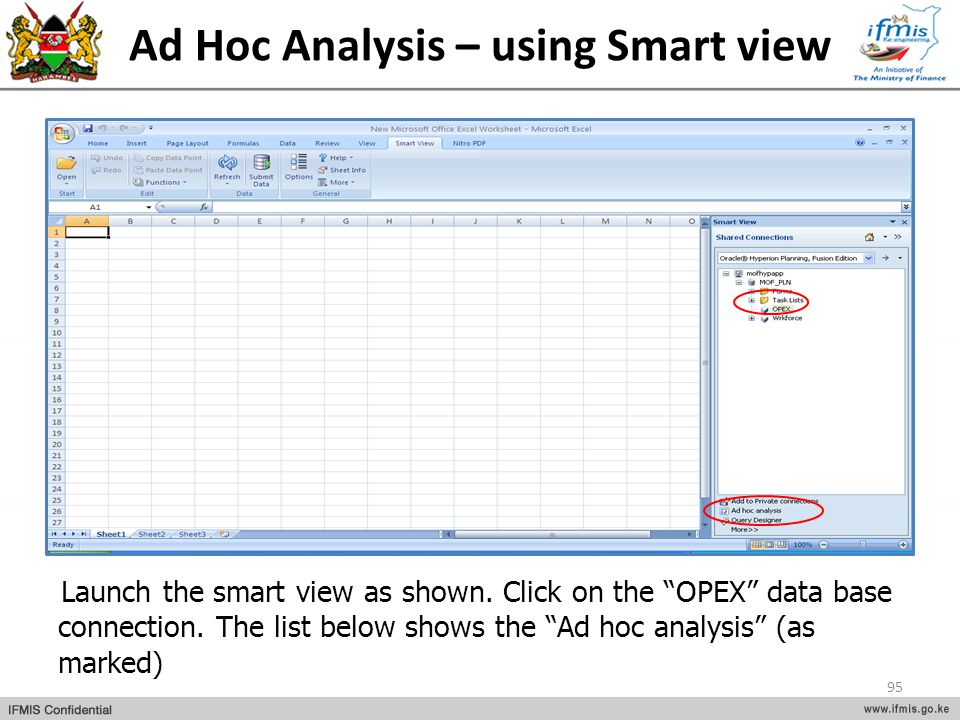 Ad Hoc Analysis – using Smart view