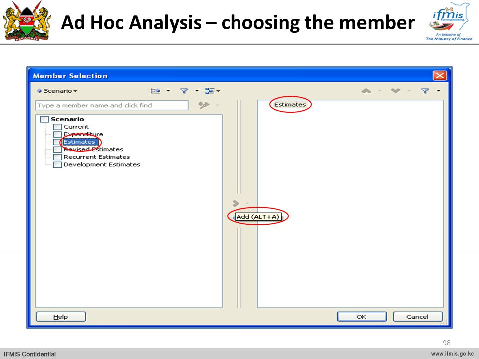 Ad Hoc Analysis – choosing the member