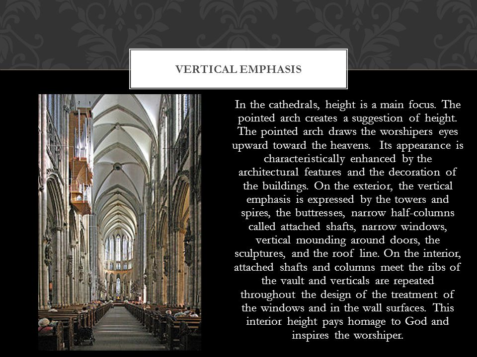 Vertical emphasis
