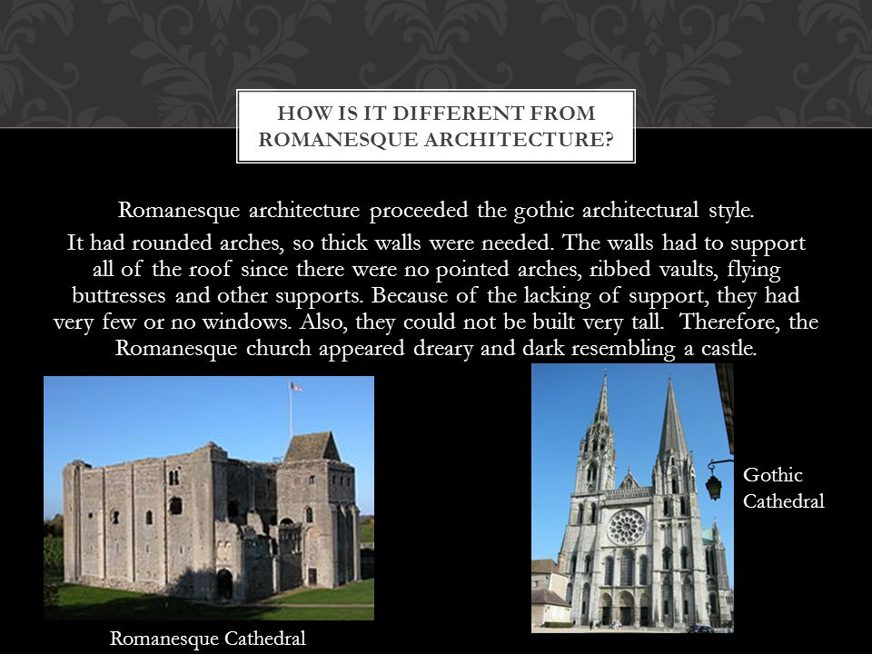 How is it different from Romanesque architecture