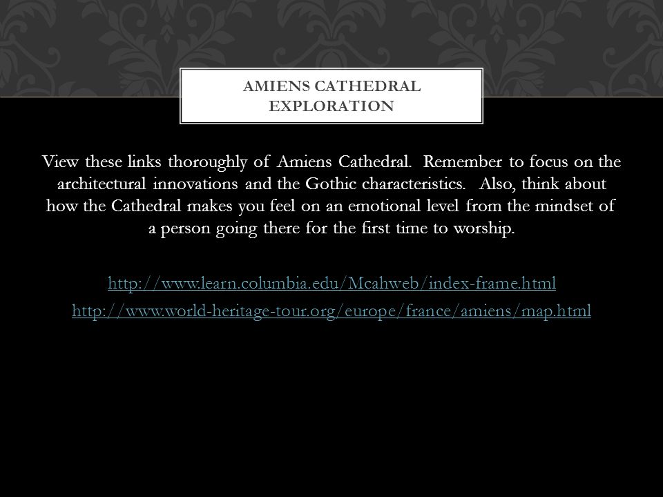 Amiens cathedral Exploration
