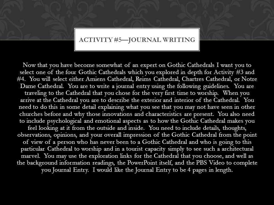 Activity #5—Journal Writing