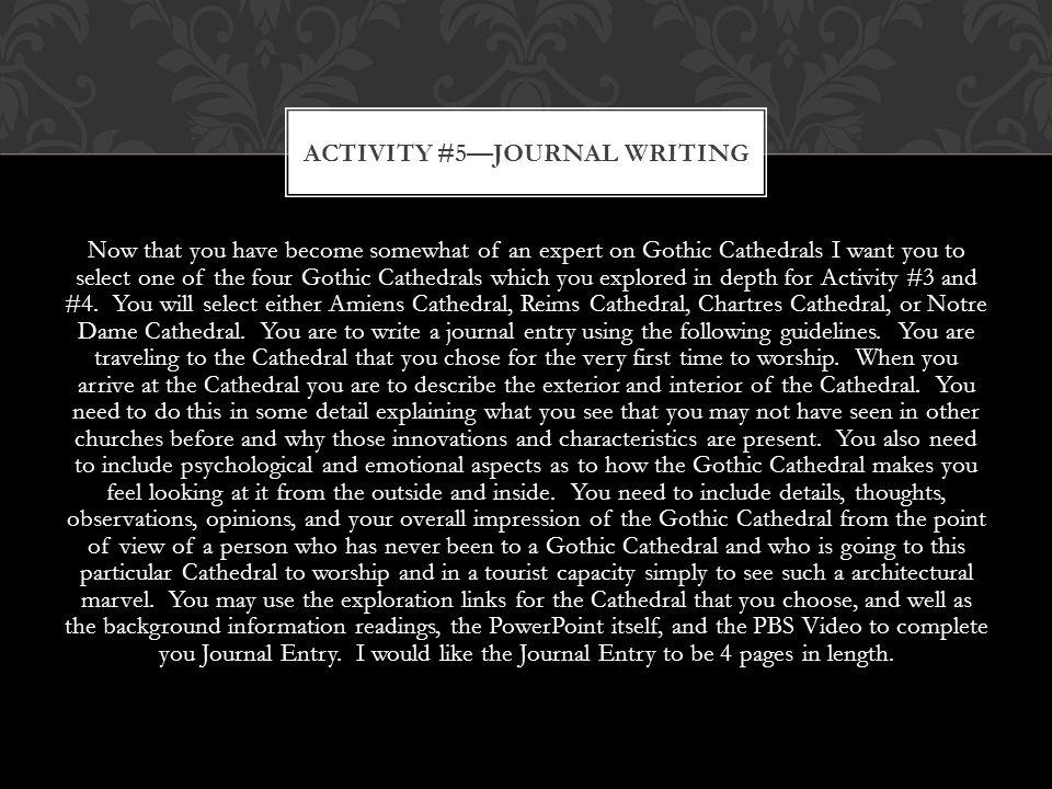 Activity #5—Journal Writing