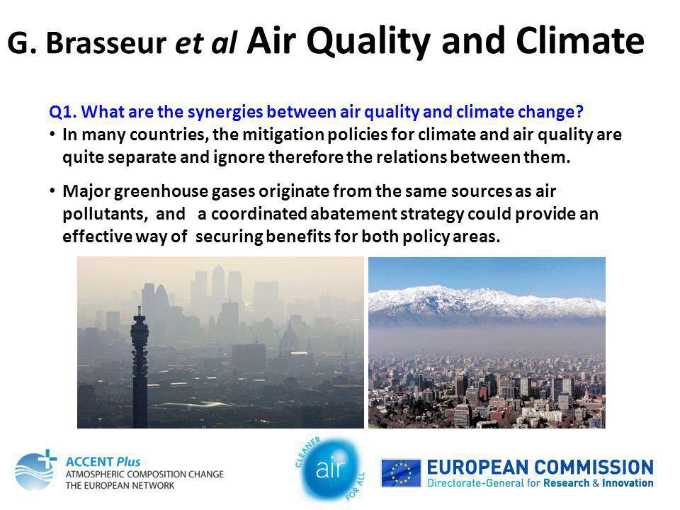 G. Brasseur et al Air Quality and Climate