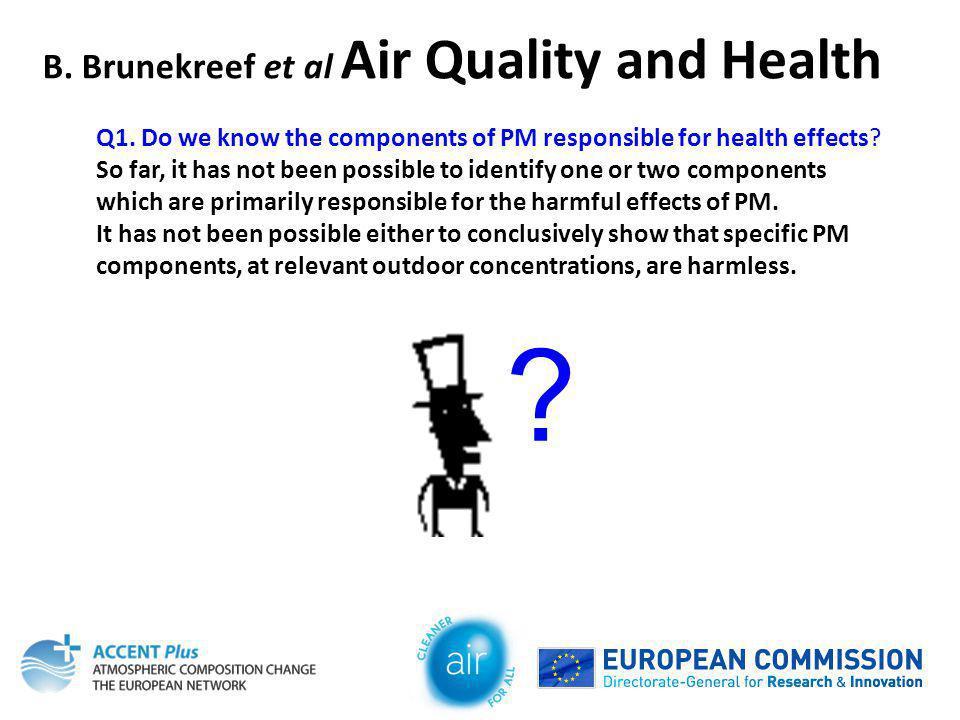 B. Brunekreef et al Air Quality and Health