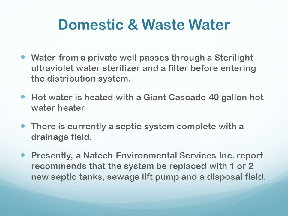Domestic & Waste Water