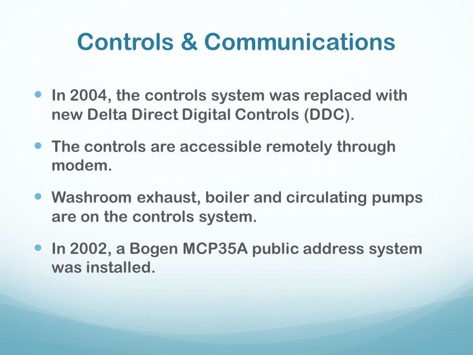 Controls & Communications