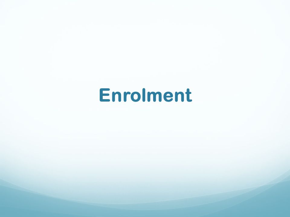Enrolment
