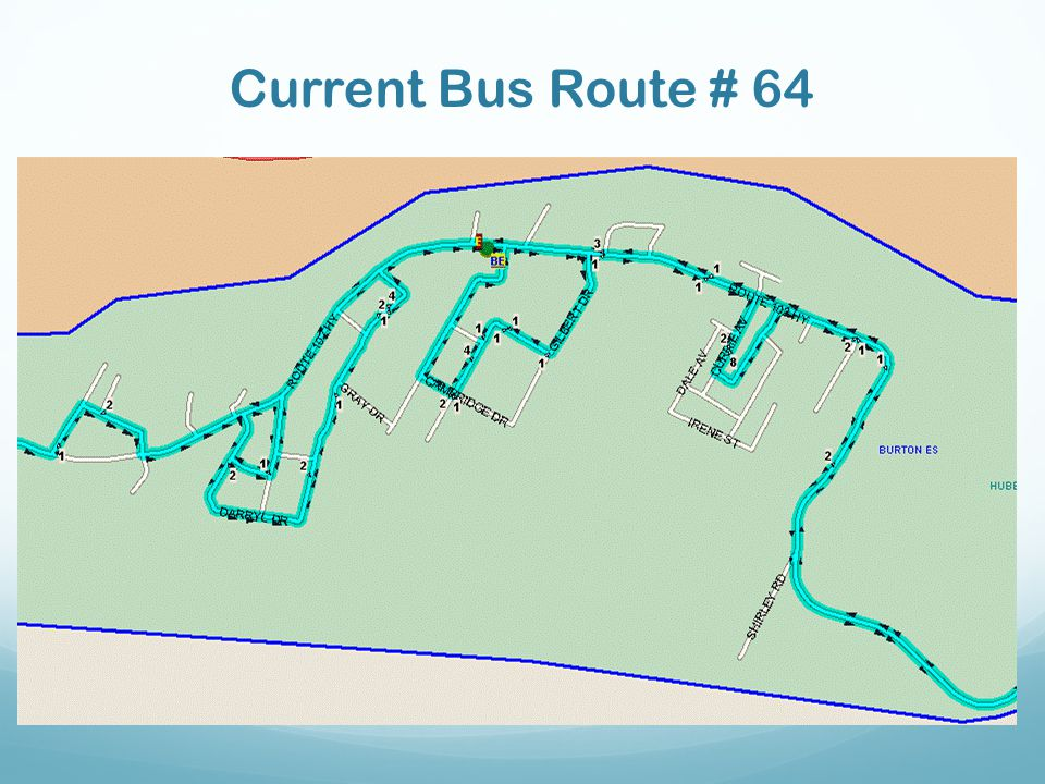 Current Bus Route # 64 Insert Map!