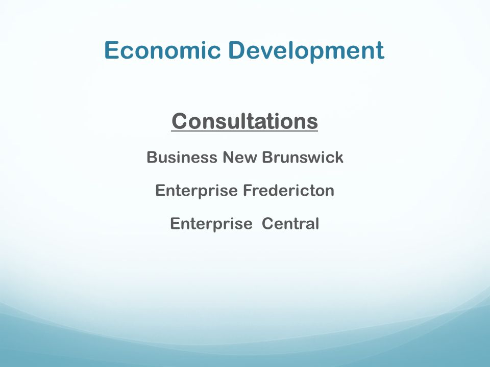 Economic Development Consultations Business New Brunswick