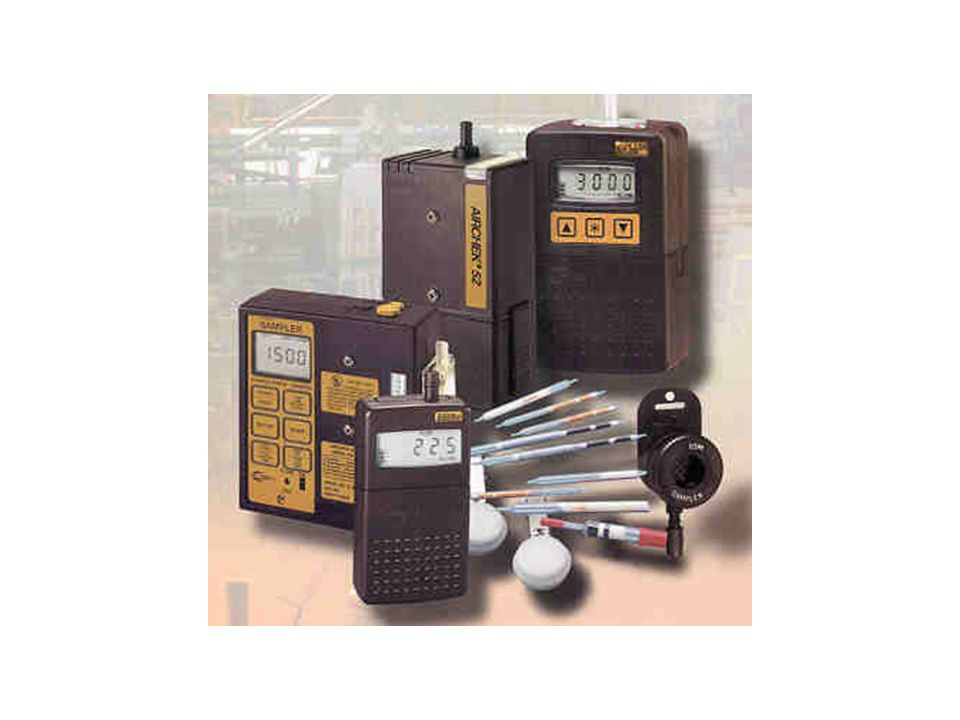 Air monitoring pumps and sample collection media. See http://www