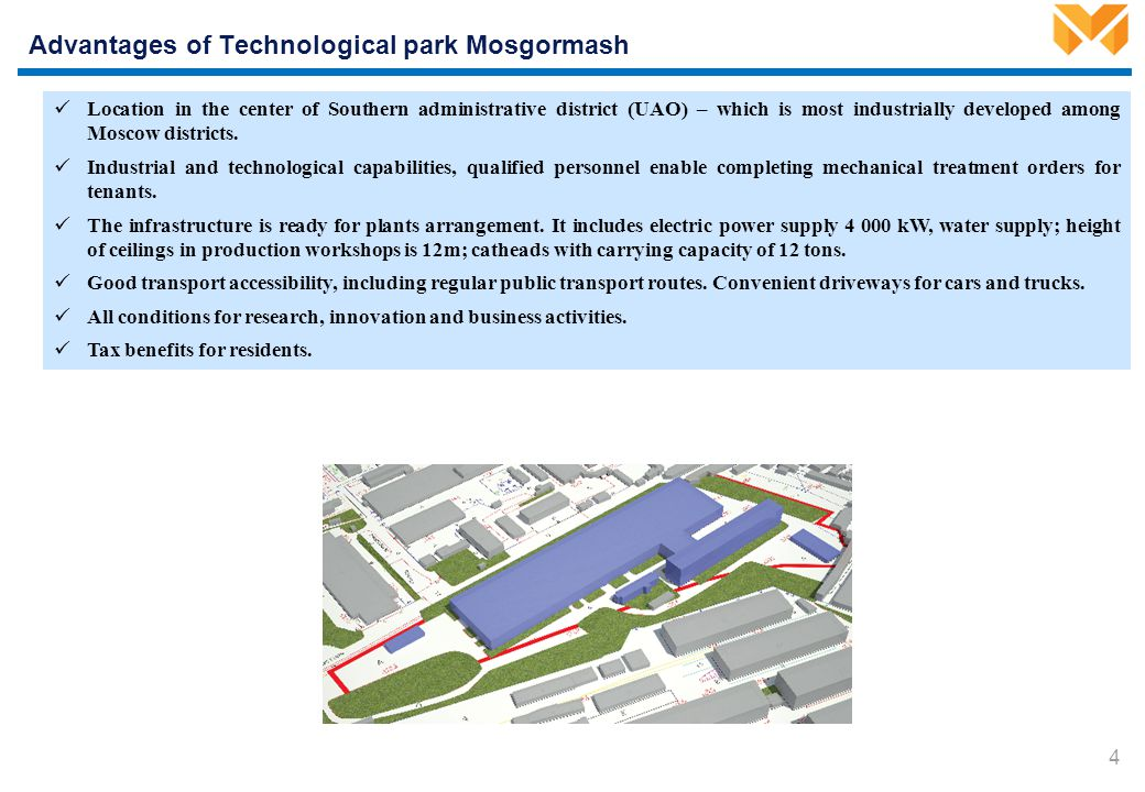 Current tenants – probable residents of the Technological park
