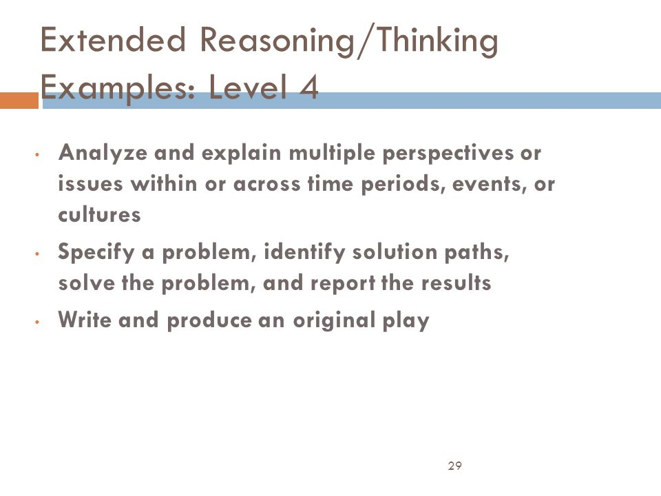 Extended Reasoning/Thinking Examples: Level 4