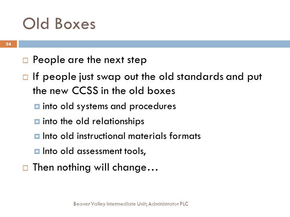 Old Boxes People are the next step