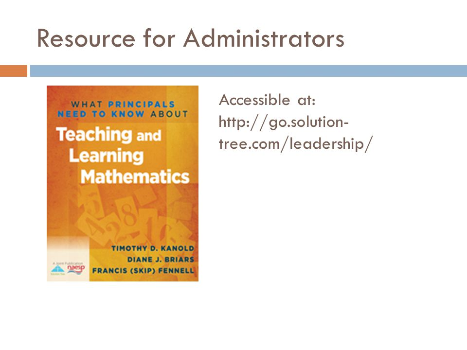 Resource for Administrators