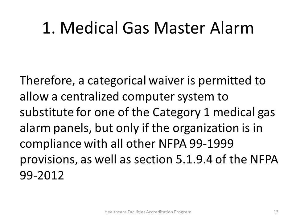 1. Medical Gas Master Alarm
