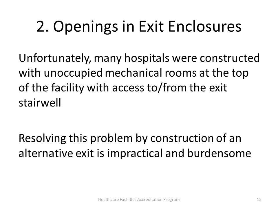 2. Openings in Exit Enclosures