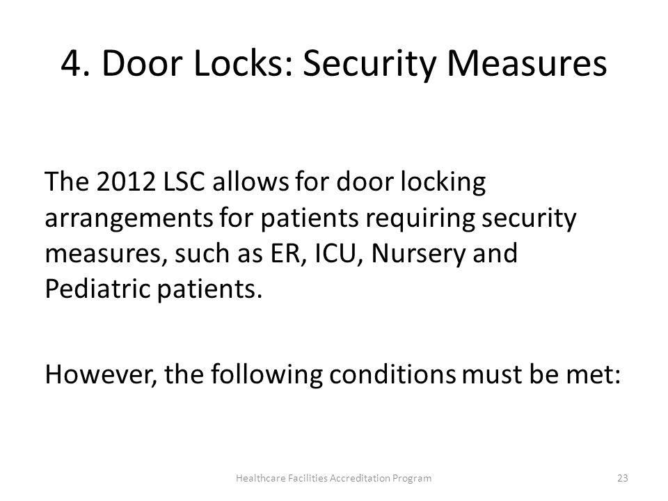 4. Door Locks: Security Measures