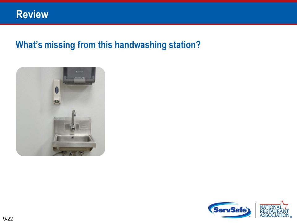 Review What's missing from this handwashing station Instructor Notes