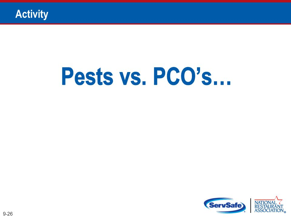 Pests vs. PCO's… Activity Instructor Notes