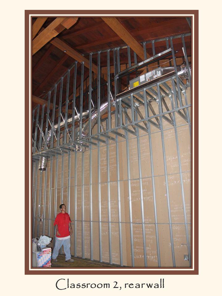 Classroom 2, rear wall. Classroom 2, rear wall