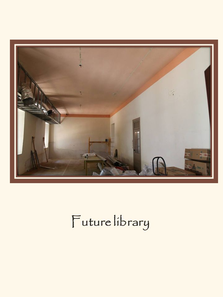 Library, front area. The library is broken into three general areas.