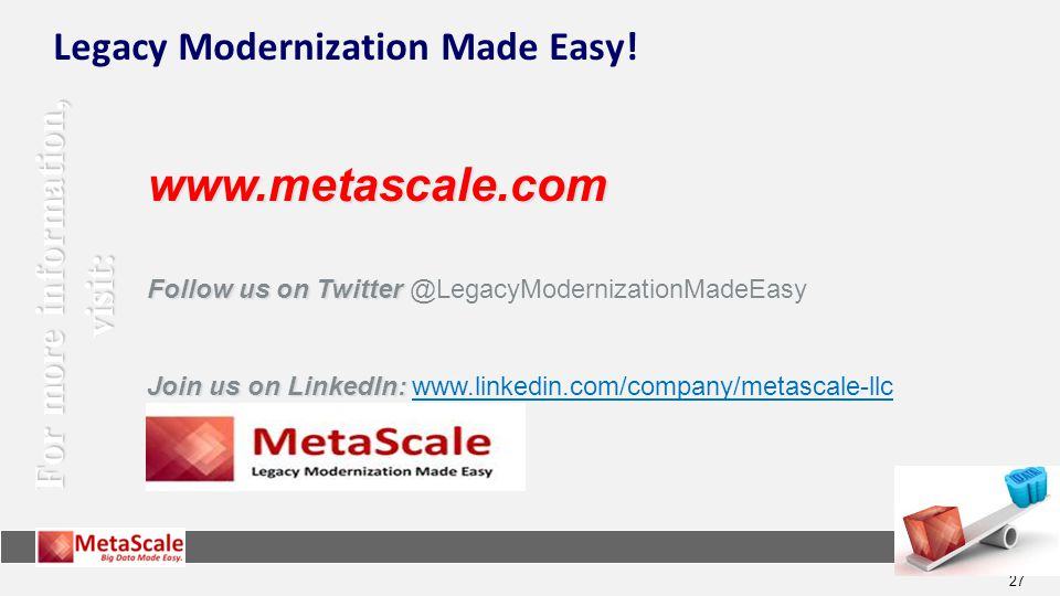 Legacy Modernization Made Easy!