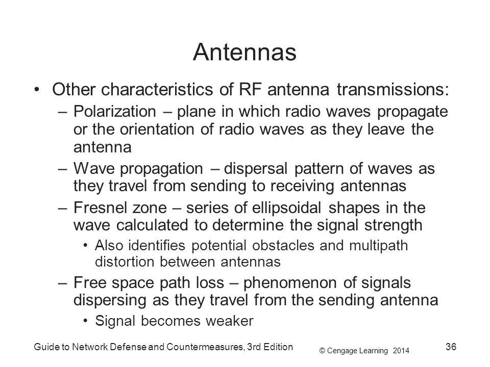 Antennas Other characteristics of RF antenna transmissions: