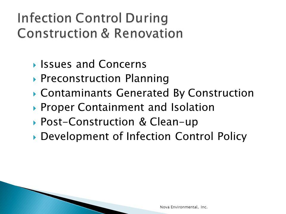 Infection Control During Construction & Renovation