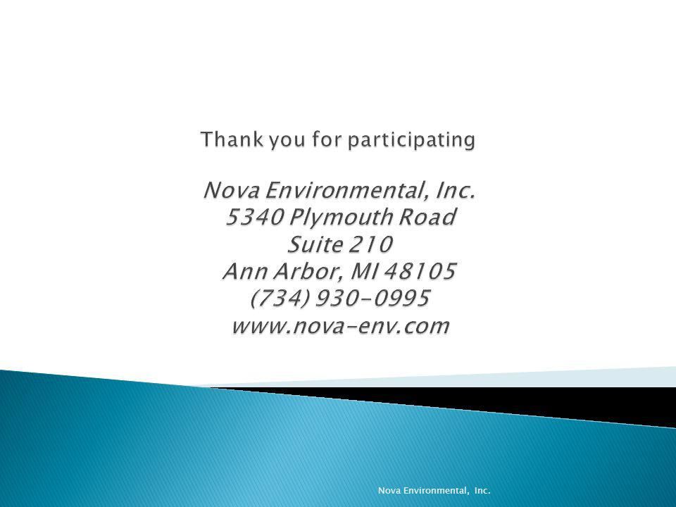 Thank you for participating Nova Environmental, Inc