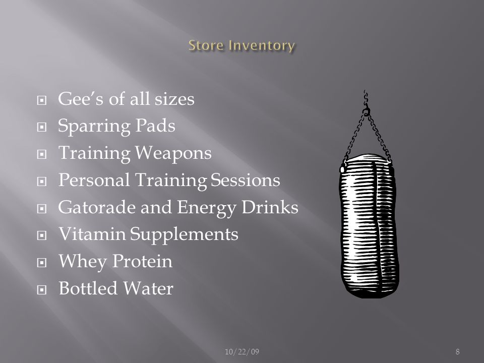 Personal Training Sessions Gatorade and Energy Drinks