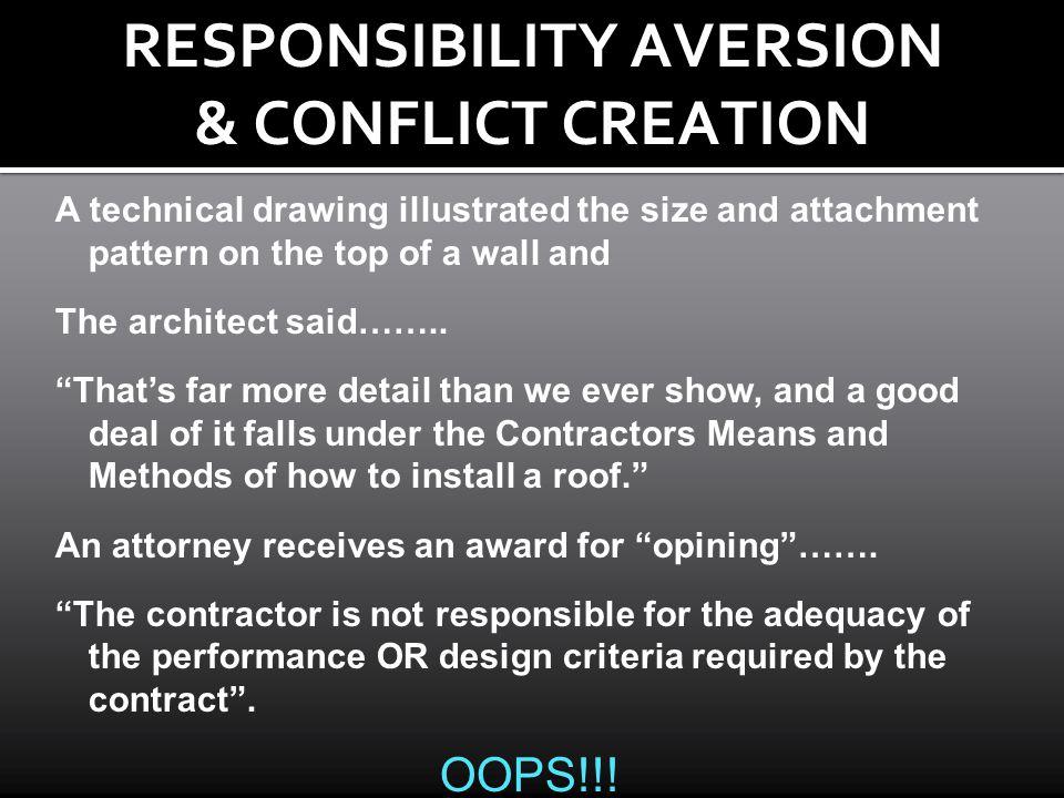 RESPONSIBILITY AVERSION