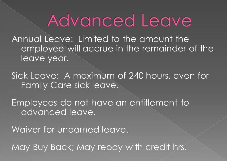 Advanced Leave