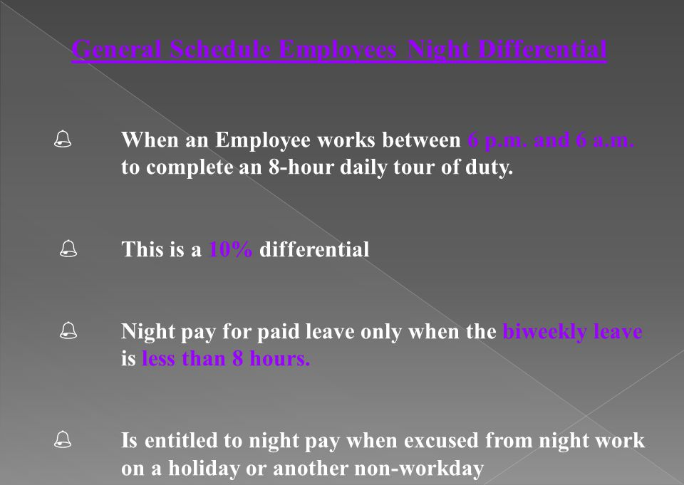 General Schedule Employees Night Differential