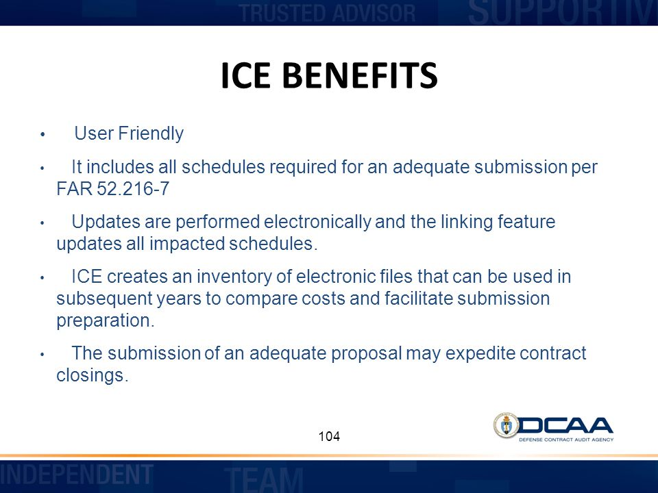 ICE BENEFITS User Friendly