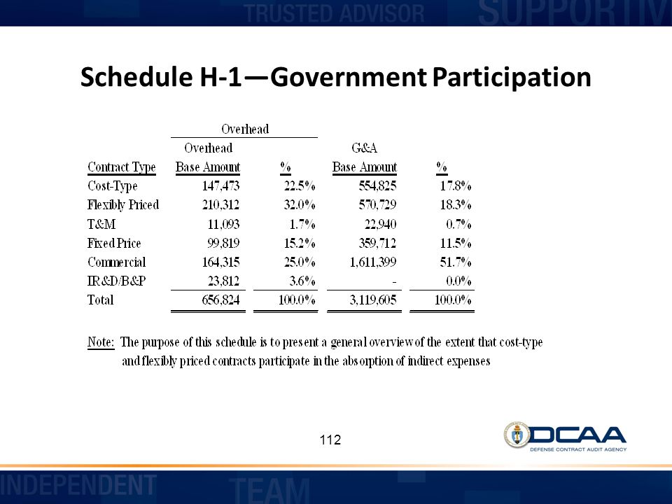 Schedule H-1—Government Participation