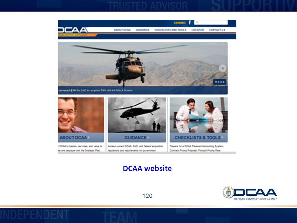 DCAA website 120