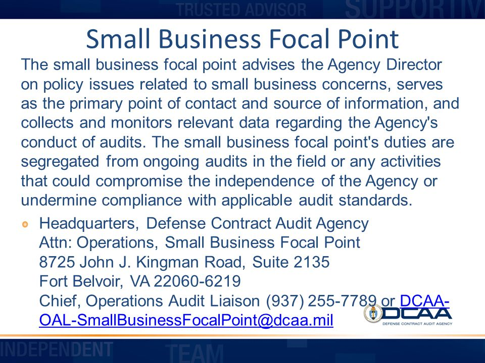 Small Business Focal Point