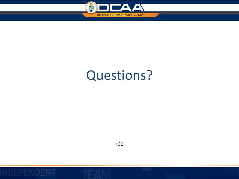 Questions 130