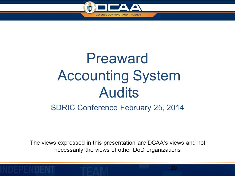 Preaward Accounting System Audits