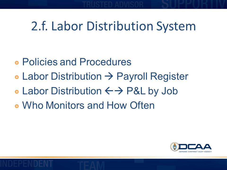 2.f. Labor Distribution System