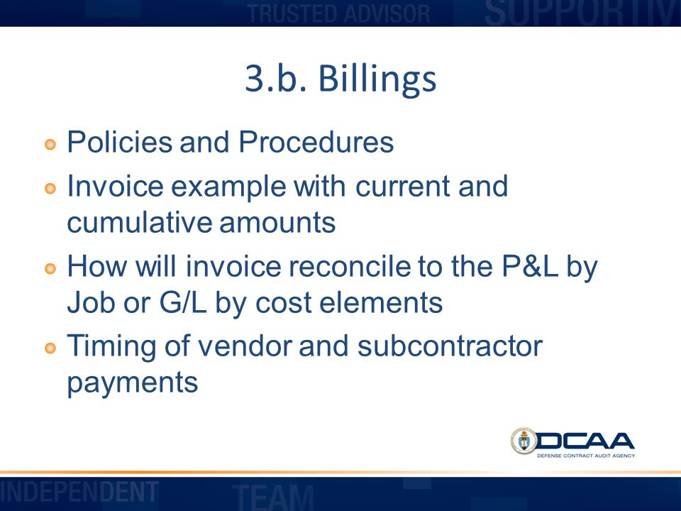 3.b. Billings Policies and Procedures