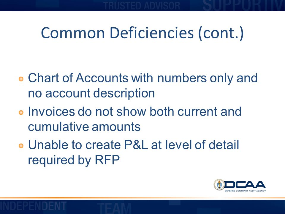 Common Deficiencies (cont.)