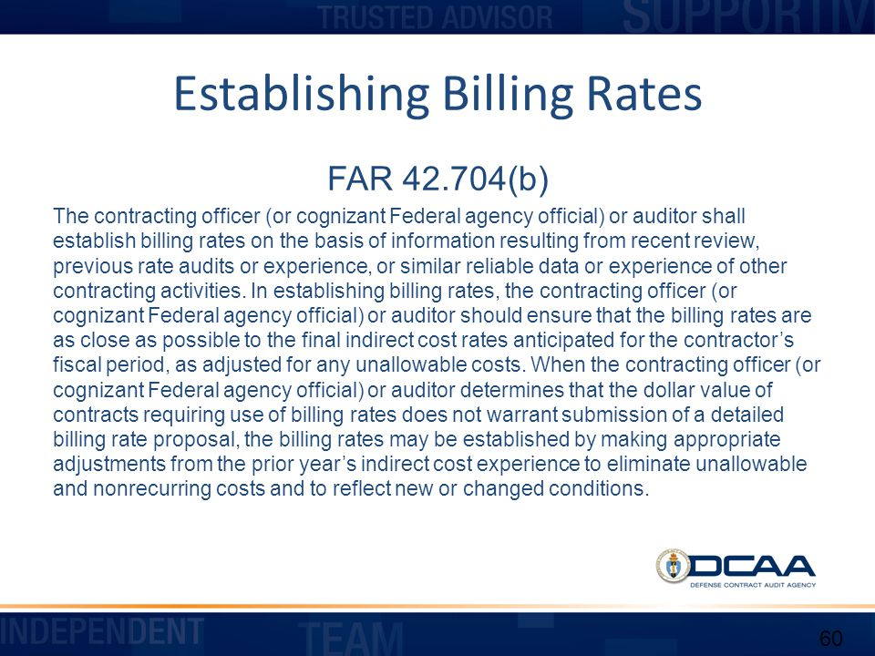 Establishing Billing Rates